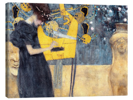 Canvas print  The music - Gustav Klimt