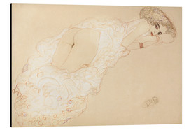 Aluminium print  Lying on her stomach - Gustav Klimt