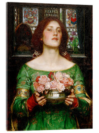 Acrylic print  Gather Rosebuds While May - John William Waterhouse