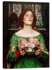 Canvas print  Gather Rosebuds While May - John William Waterhouse