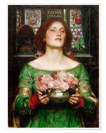 Premium poster  Gather Rosebuds While May - John William Waterhouse