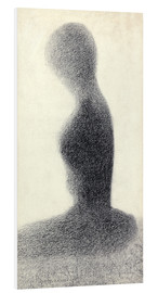 Foam board print  Young woman (study) - Georges Seurat