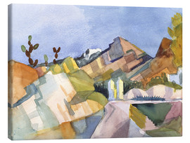 Canvas print  Rocky Landscape - August Macke