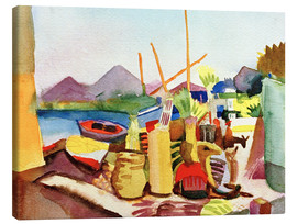Canvas  Landscape near Hammamet - August Macke