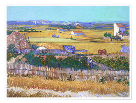 Premium poster  Harvest Landscape with Blue Cart - Vincent van Gogh