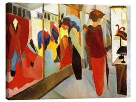 Canvas print  Fashion Store - August Macke