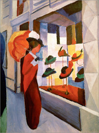 Aluminium print  Hat Shop - August Macke