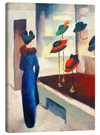 Canvas print  Hat shop - August Macke