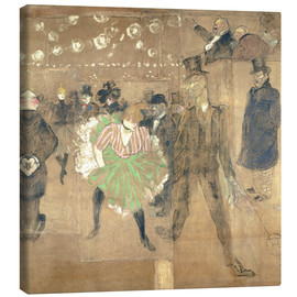 Canvas  Cancan Dance - Henri de Toulouse-Lautrec
