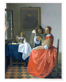 Premium poster  The Girl with the Wine Glass - Jan Vermeer
