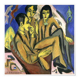 Premium poster  Group of artists, a conversation among artists - Ernst Ludwig Kirchner