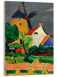 Wood print  The windmill at Moritzburg - Ernst Ludwig Kirchner