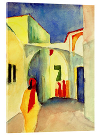 Acrylic glass  Alley in Tunis - August Macke