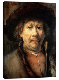 Canvas print  Rembrandt, the small self-portrait - Rembrandt van Rijn