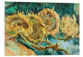 Foam board print  Four Cut Sunflowers - Vincent van Gogh