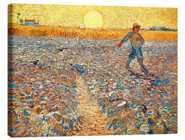 Canvas print  Sower at Sunset - Vincent van Gogh