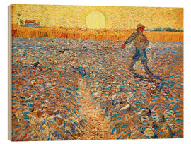 Wood print  Sower at Sunset - Vincent van Gogh
