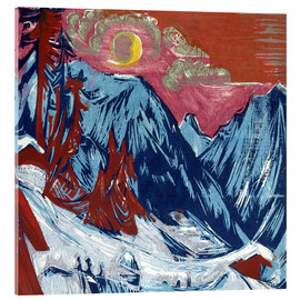 Acrylic print  Winter moonlit night - Ernst Ludwig Kirchner
