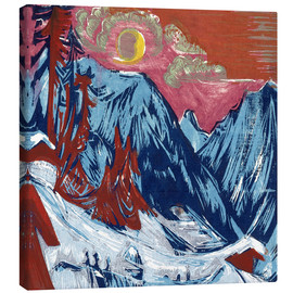 Canvas print  Winter Moonlit Night - Ernst Ludwig Kirchner
