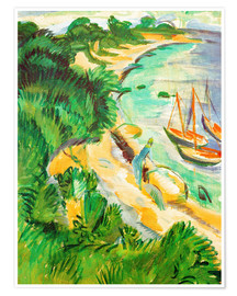 Premium poster Fehmarn bay with boats