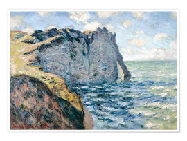 Premium poster  the manneport - Claude Monet