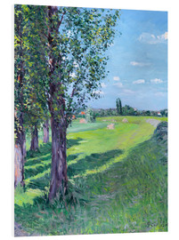 Foam board print  Petit Gennevilliers from the 'Aumone Graben' - Gustave Caillebotte