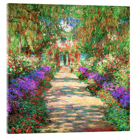 Acrylic glass  A Pathway in Monet's Garden - Claude Monet