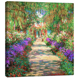 Canvas print  A Pathway in Monet's Garden - Claude Monet
