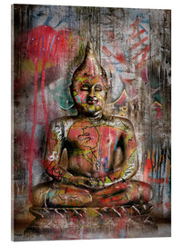 Acrylic print  Old Buddha in Graffiti - teddynash