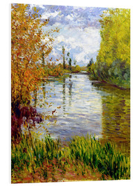 Foam board print  Side arm of the Seine - Gustave Caillebotte