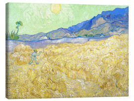 Canvas print  Wheat Field with Reaper at sunrise - Vincent van Gogh