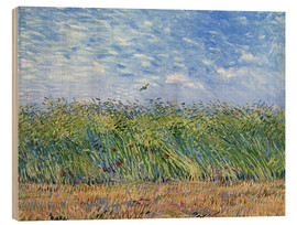 Wood  Corn field with poppies and partridge - Vincent van Gogh