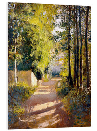 Foam board print  Path under trees - Gustave Caillebotte