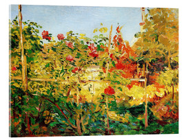 Acrylic print  Garden in Trouville - Gustave Caillebotte