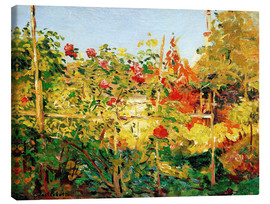 Canvas print  Garden in Trouville - Gustave Caillebotte