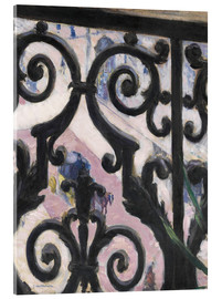 Acrylic glass  View through balcony grill - Gustave Caillebotte