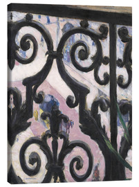 Canvas print  View through balcony grill - Gustave Caillebotte