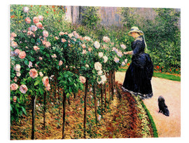Foam board print  Roses in the garden - Gustave Caillebotte