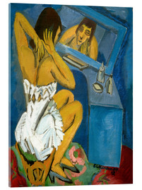Acrylic print  Toilet, Woman in front of the mirror - Ernst Ludwig Kirchner