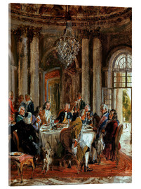 Acrylic print  King Frederick II. Guests at Sanssouci - Adolph von Menzel