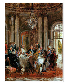 Premium poster King Frederick II. Guests at Sanssouci
