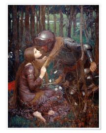 Premium poster  La Belle Dame sans Merci (The Beautiful Lady Without Mercy) - John William Waterhouse