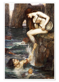 Premium poster  The Siren - John William Waterhouse