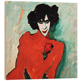 Wood print  The dancer, Alexander Sakharov - Alexej von Jawlensky