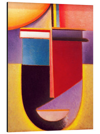 Aluminium print  Abstract Head: Sun - color - life - Alexej von Jawlensky