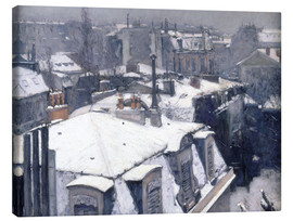 Canvas print  Roofs in the snow - Gustave Caillebotte