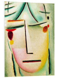 Foam board print  The Saviour's face: starlight - Alexej von Jawlensky