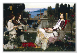 Premium poster  Saint Cecilia - John William Waterhouse