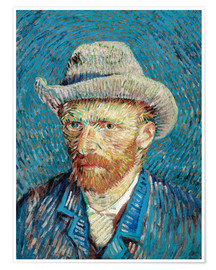 Premium poster  Vincent van Gogh with Grey Hat - Vincent van Gogh