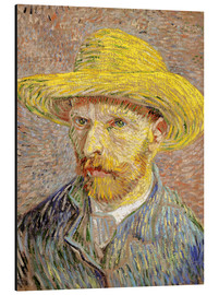 Aluminium print  Vincent van Gogh with straw hat - Vincent van Gogh